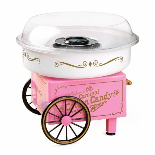 Nostalgia Vintage Cotton Candy Maker - Pink Perspective: front