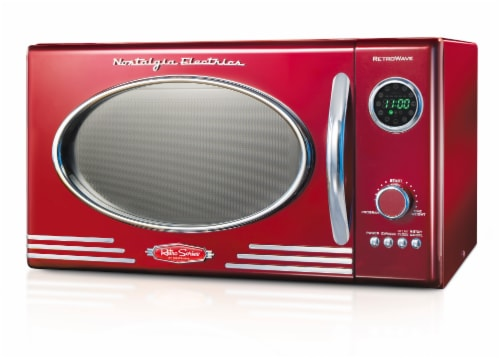 Nostalgia Countertop Microwave Oven - Retro Red Perspective: front