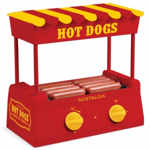 Nostalgia Hot Dog Roller and Bun Warmer Perspective: front