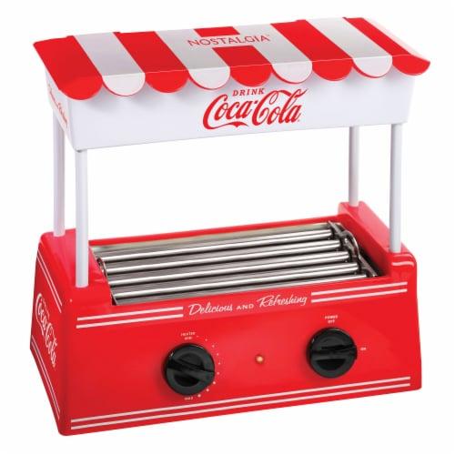 Nostalgia Coca-Cola Hot Dog Roller & Bun Warmer Perspective: front