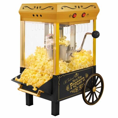 Nostalgia Kettle Popcorn Maker - Black Perspective: front