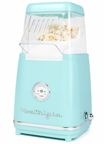 Nostalgia 12-Cup Hot Air Popcorn Maker - Classic Retro Perspective: front