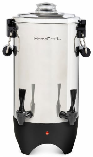 HomeCraft Quick Brewing Automatic Stainless Steel Coffee Urn Perspective: front