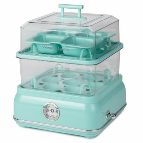 Nostalgia Classic Retro Egg Cooker - Aqua Perspective: front