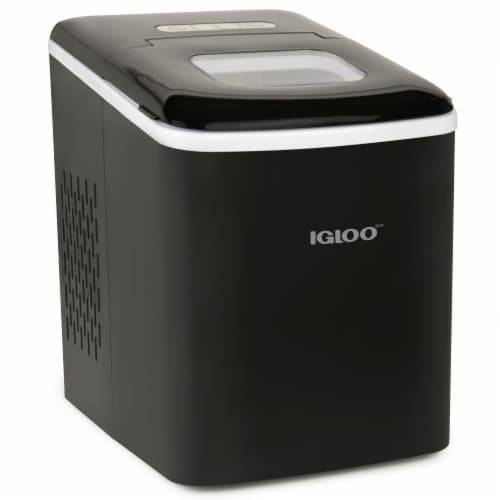 Igloo Automatic Self-Cleaning Portable Countertop Ice Maker - Black Perspective: front