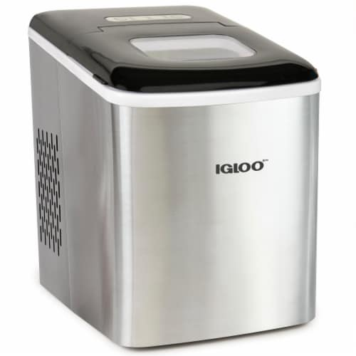 Igloo 26-Pound Automatic Self-Cleaning Portable Countertop Ice Maker Machine - Silver Perspective: front