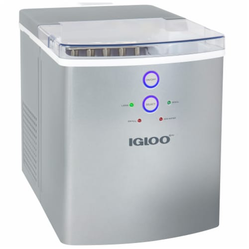 Igloo Automatic Portable Countertop Ice Maker Machine - Silver Perspective: front