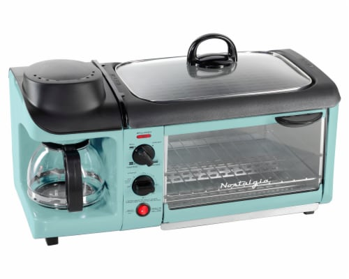 Nostalgia Retro 3-in-1 Family Breakfast Station - Aqua Perspective: front