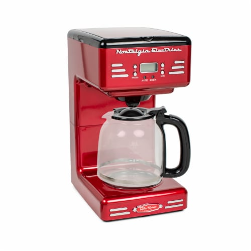 Nostalgia Retro Programmable Coffee Maker - Red Perspective: front