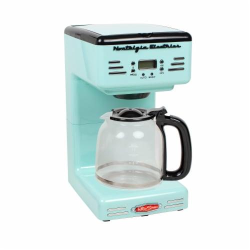 Nostalgia Retro Coffee Maker - Aqua Perspective: front