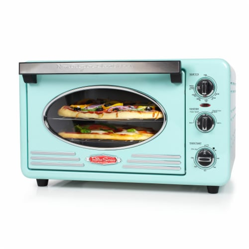 Nostalgia Electrics Retro Series 12-Slice Convection Toaster Oven - Turquoise/Chrome Perspective: front
