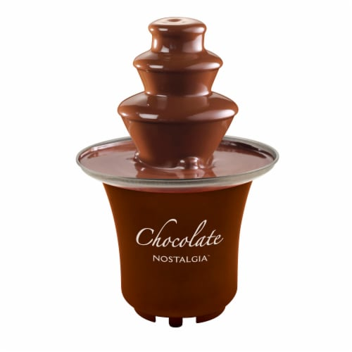 Nostalgia 3-Tier Chocolate Fondue Fountain Perspective: front