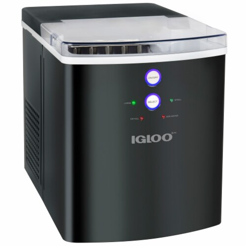 Igloo 33-Pound Automatic Portable Countertop Ice Maker Machine - Black Perspective: front