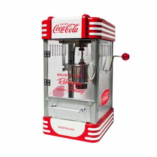 Nostalgia Coca-Cola Kettle Popcorn Maker Perspective: front