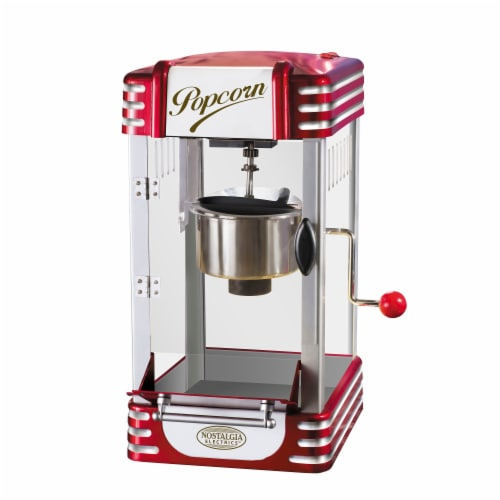 Nostalgia Retro Kettle Popcorn Maker Perspective: front