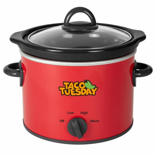 Nostalgia Taco Tuesday Fiesta Slow Cooker Perspective: front