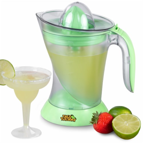Nostalgia Taco Tuesday Electric Lime Juicer & Margarita Kit Perspective: front
