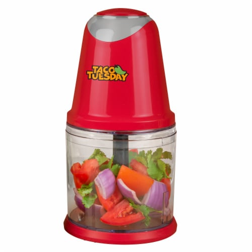 Taco Tuesday Salsa & Guacamole Chopper - Red/Clear Perspective: front