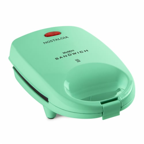 Nostalgia MyMini Personal Sandwich Maker - Turquoise Perspective: front