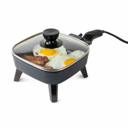 HomeCraft Electric Non-Stick Skillet - Black Perspective: front