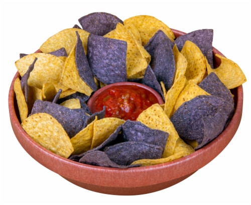 Nostalgia Tortilla Taco Tuesday Chip & Salsa Bowl Perspective: front