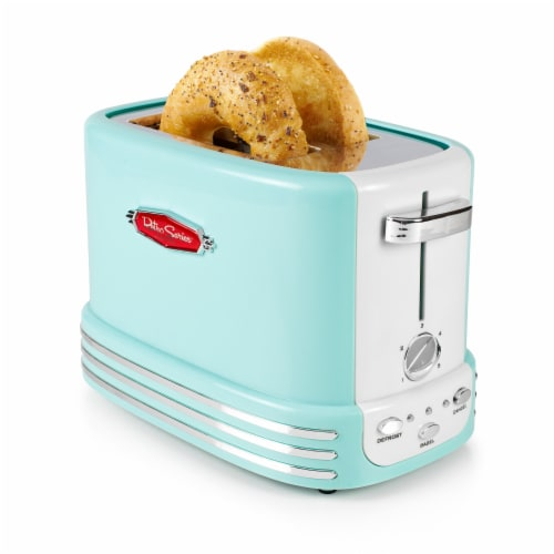 Nostalgia Retro 2-Slice Bagel Toaster Perspective: front