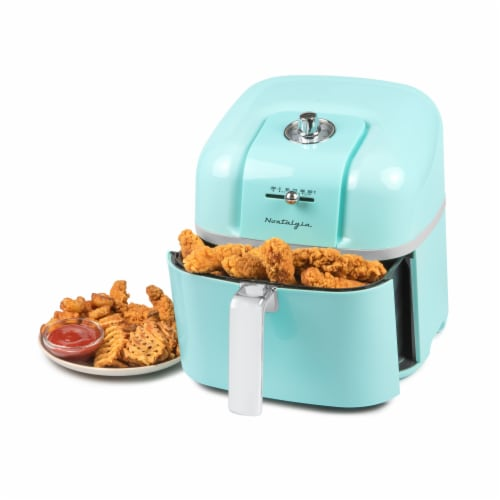 Nostalgia Classic Retro Air Fryer - Turquoise Perspective: front