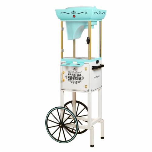 Nostalgia Snow Cone Cart - Aqua Perspective: front