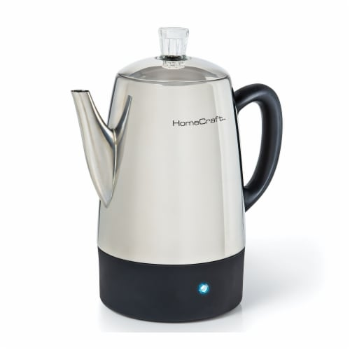 HomeCraft Stainless Steel Coffee Percolator Perspective: front