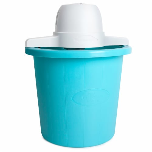 Nostalgia Electric Bucket Ice Cream Maker - Blue Perspective: front