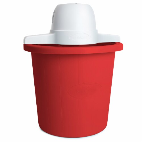 Nostalgia Electric Bucket Ice Cream Maker - Red Perspective: front