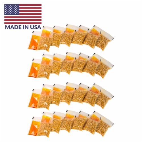 Nostalgia Premium Popcorn, Oil, and Seasoning Salt All-in-One Packs - 24 Pack Perspective: front