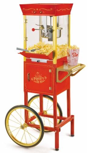 Nostalgia Vintage Professional Popcorn Cart Perspective: front