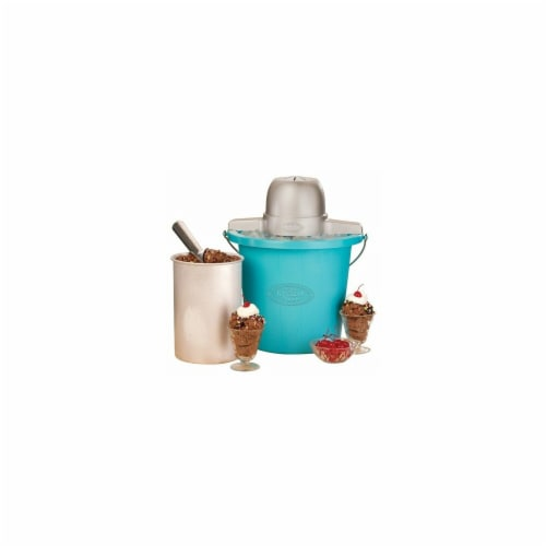 Nostalgia Electric Ice Cream Maker - Blue Perspective: front