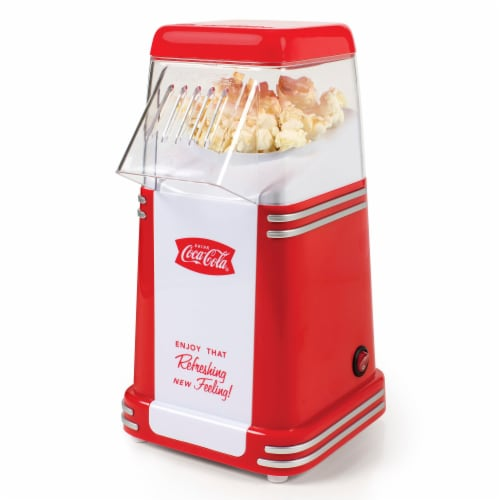 Nostalgia Coca-Cola Series Mini Hot Air Popcorn Maker Perspective: front