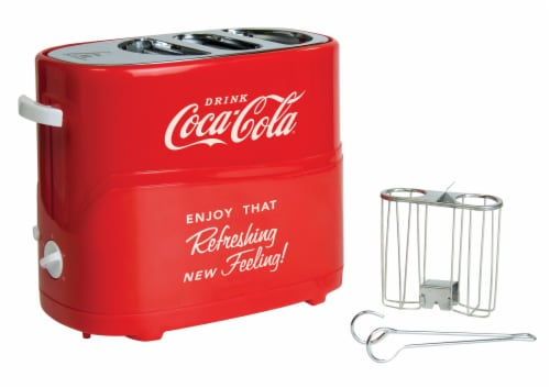 Nostalgia Coca-Cola Pop-Up Hot Dog Toaster Perspective: front
