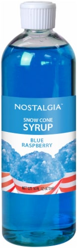 Nostalgia Blue Raspberry Snow Cone Syrup Perspective: front
