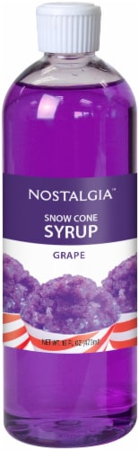 Nostalgia Grape Snow Cone Syrup Perspective: front
