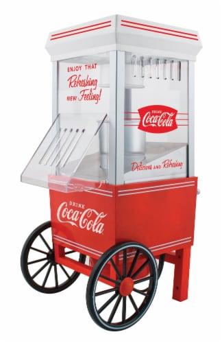 Nostalgia Coca-Cola 12-Cup Hot Air Popcorn Maker Perspective: front