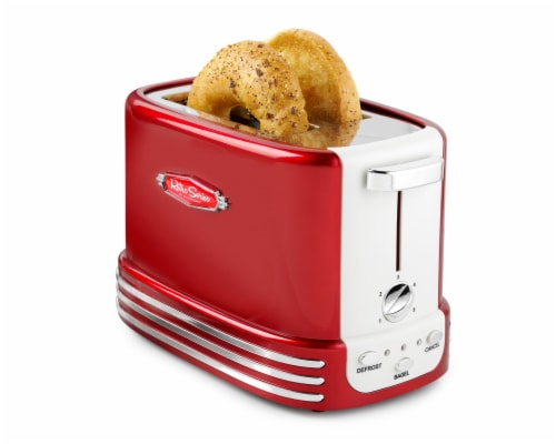 Nostalgia Retro Series 2-Slice Bagel Toaster - Red Perspective: front