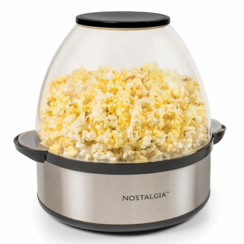 Nostalgia 6-Quart Stainless Steel Stirring Speed Popcorn Popper Perspective: front