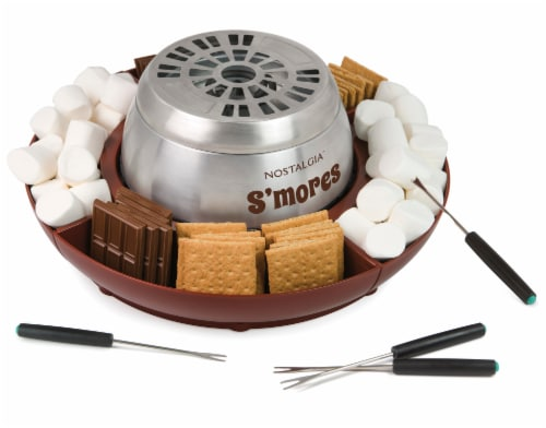 Nostalgia Indoor Electric Stainless Steel S'mores Maker Perspective: front