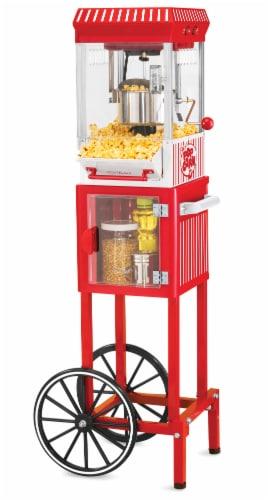 Nostalgia Vintage Popcorn Cart Perspective: front