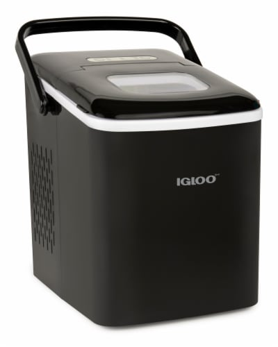 Igloo Automatic Self-Cleaning Portable Countertop Ice Maker Machine With Handle - Black Perspective: front