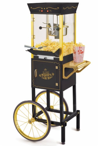 Nostalgia Vintage Commercial Popcorn Cart Perspective: front