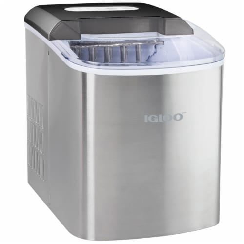 Igloo Automatic Portable Countertop Ice Maker - Stainless Steel Perspective: front