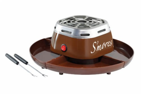 Nostalgia Electric S'mores Maker - Brown Perspective: front