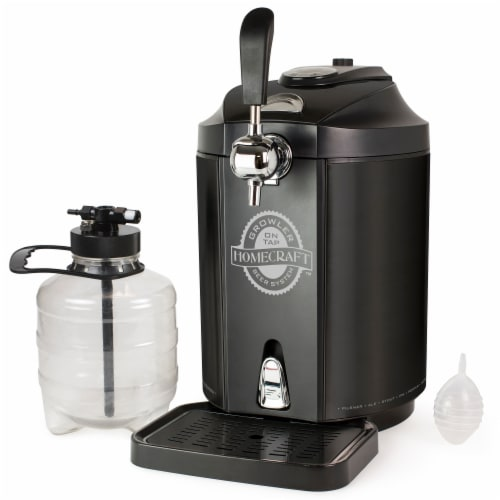 HomeCraft Stainless Steel Tap Beer Growler Cooling System - Black Perspective: front