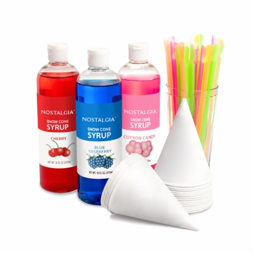 Nostalgia Premium Snow Cone Syrup Party Kit Perspective: front