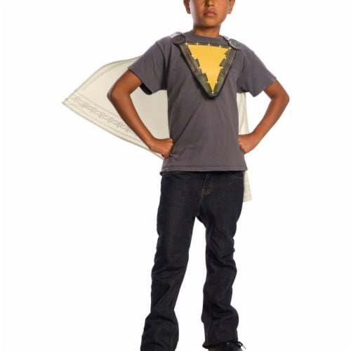Rubies 404050 Chest Emblem Shazam Kids Cape Costume - One Size Perspective: front